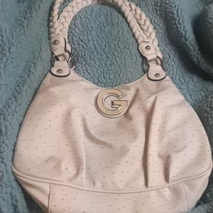 White authetic guess purse